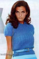 Elegáns rövid ujjú galléros pulóver
