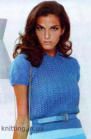 Kötött azsúrmintás pulóver