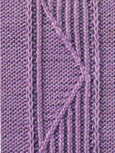 Háromszög bordás minta