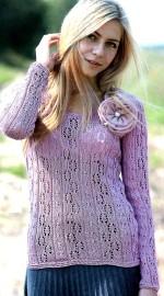 Azsúrmintás kötött pulóver