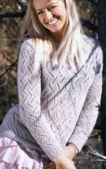 Azsúr mintás mohair pulóver