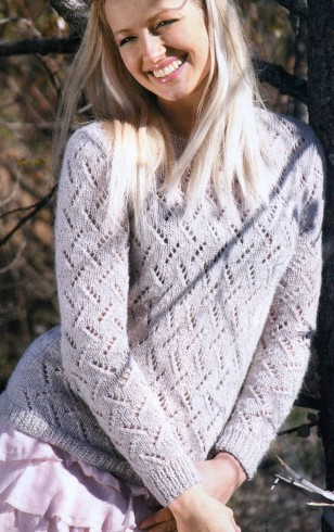 mohair pulóver kötés