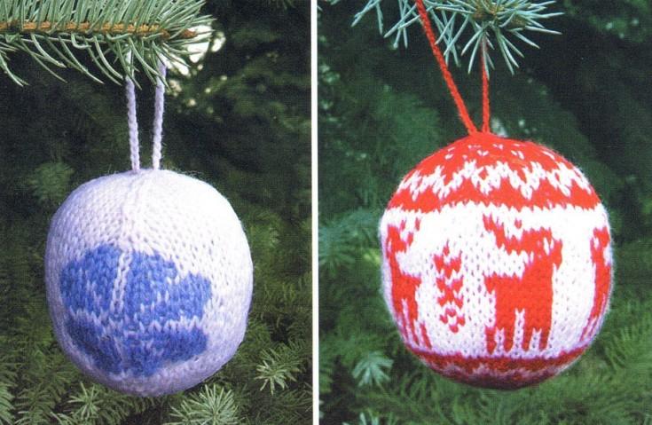 Karácsonyi dísz gömb kötése