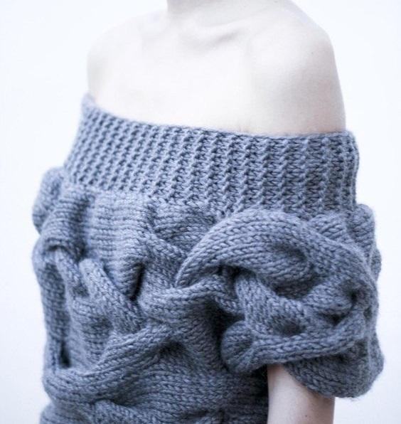 divatos kötött pulóver leírás