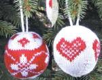 Kötött karácsonyfadíszek: Gömbök