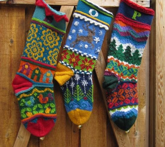 Norvég mintás karácsonyi zokni