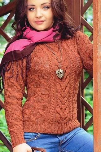 Csvart mintás pulóver kötése