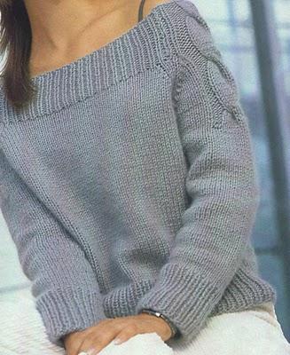 Raglán ujjú pulóver kötése