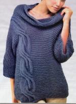 Szabad szabású pulóver kötése