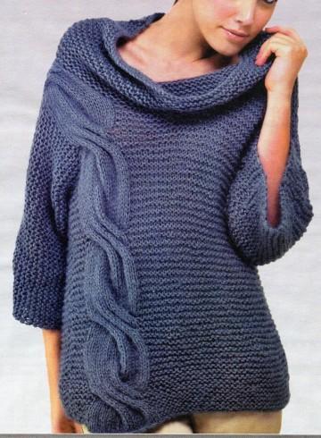 pulóver kötés leírás