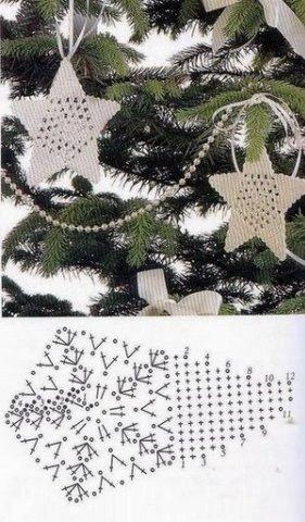 Karácsonyi csillag horgolás