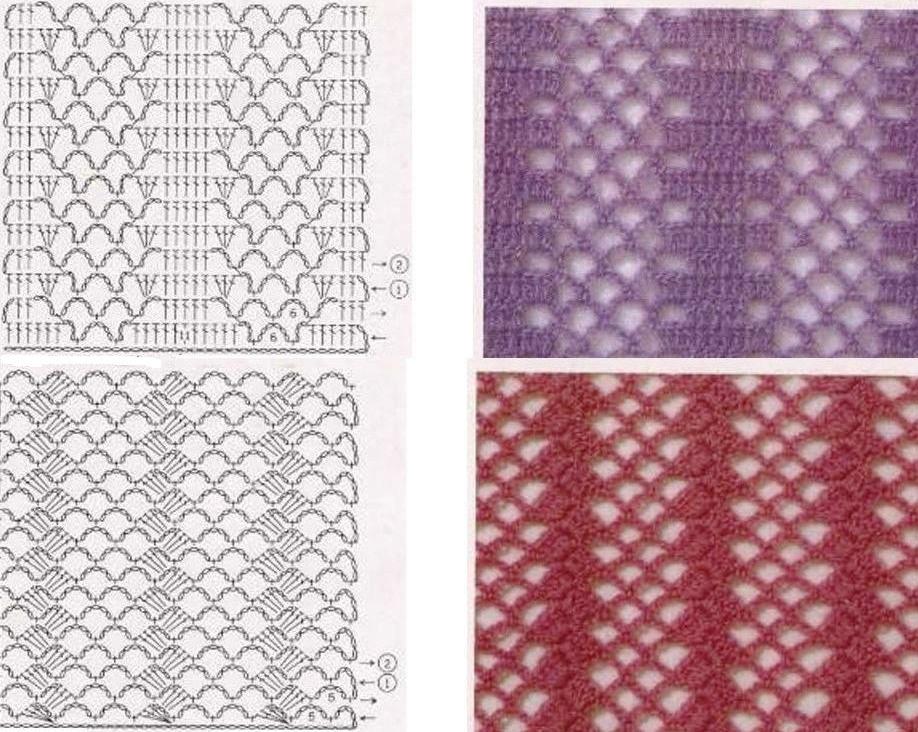 bordás minták horgoláshoz