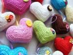Horgolt szív párna