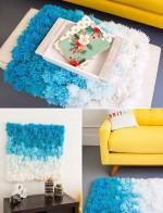 Pompon szőnyeg készítése képekben