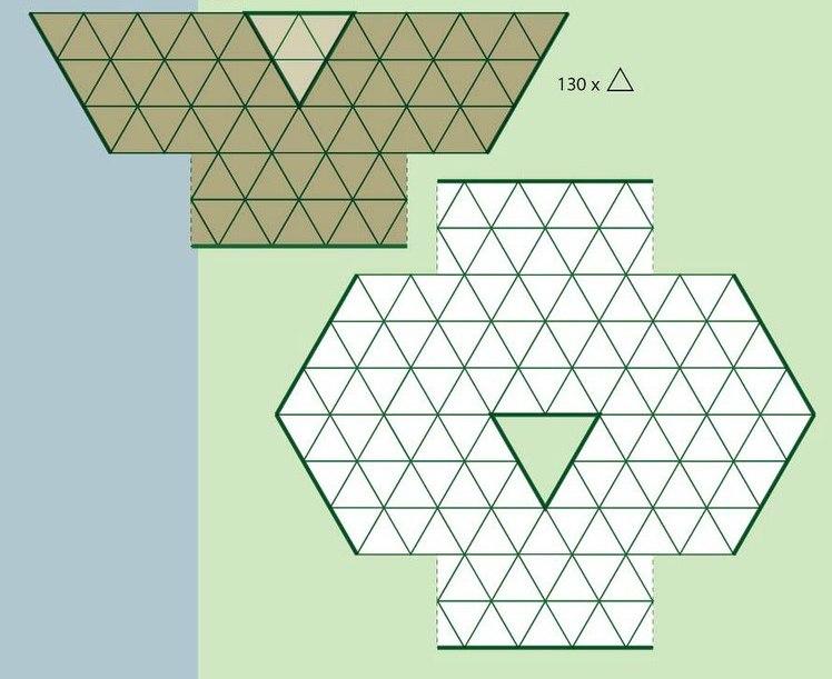 Háromszög horgolt motívumokból boleró