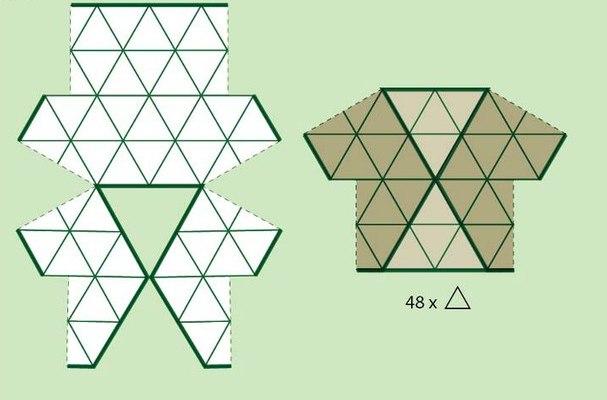 Háromszögekből horgolt boleró