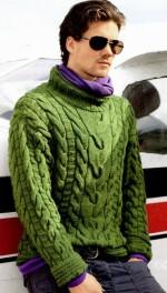 Férfi pulóver kötése