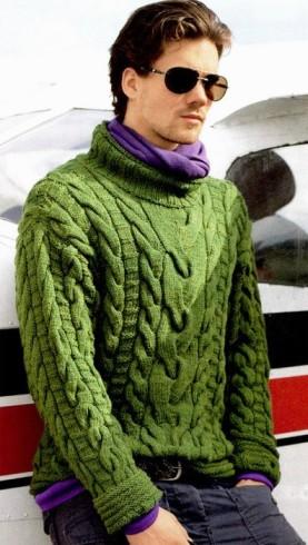 férfi pulóver kötés