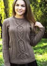 Fantázia mintás pulóver