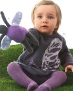 Kötött pillangós pulóver