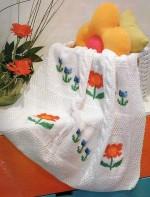 Virágmintás babatakaró