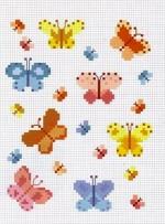 Keresztszemes pillangó minták