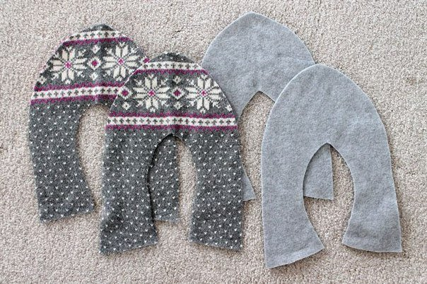 pulóverből papucs