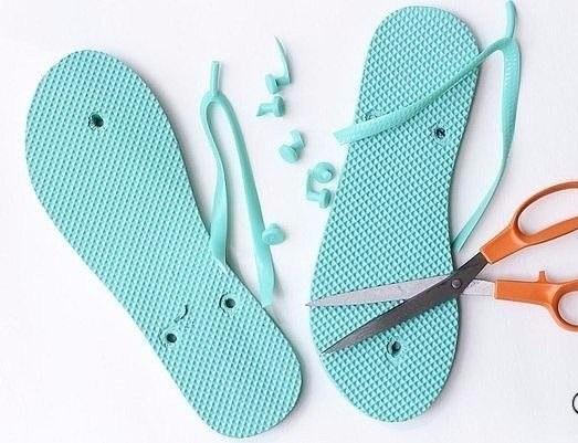 Strandpapucsból horgolt cipő