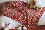Norvég mintás kötött takaró