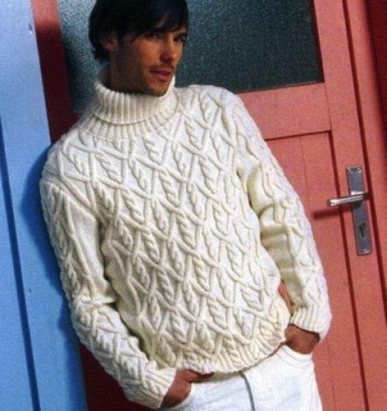 Férfi pulóver kötésminta