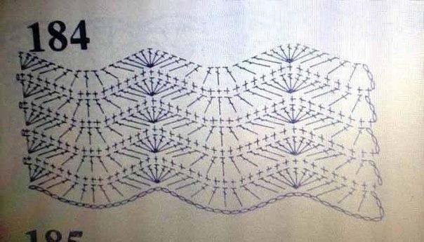 Hullámos horgolt takaró minták