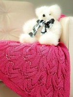 Szív mintás kötött takaró
