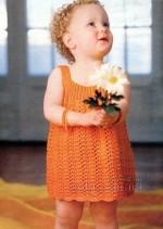 Kötött ruha 2 éves kislányra