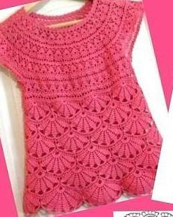 Horgolt ruhácska