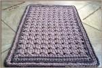 Pólófonalból horgolt szőnyeg