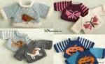 Játék baba pulcsi kötése