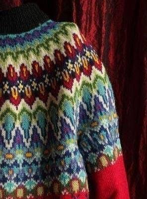 Norvég kötésminta pulóver kötéshez