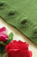 Kötött virág szegély minta