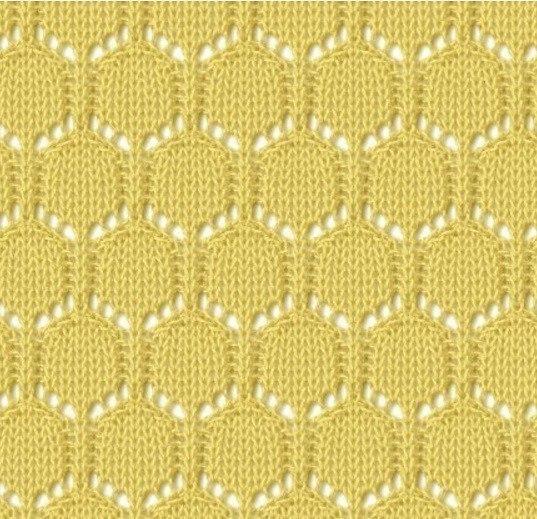 Méhsejt kötés minta