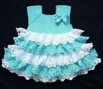 Fodros kislány ruha