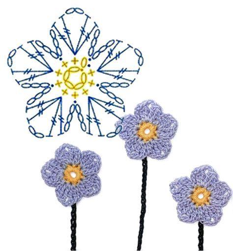 Horgolt virág minták