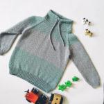 Magas nyakú húzózsinóros gyerek pulóver kötés leírása
