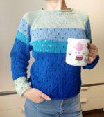 Fentről kötött pulóver videósorozat