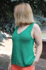 Smaragd top kötésminta