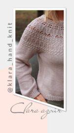 Clara azsúr pulóver kötésminta leírás