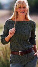 Domború rombuszmintás pulóver
